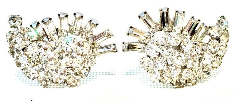 Women's or Men's 60's Weiss Style Silver & Austrian Crystal