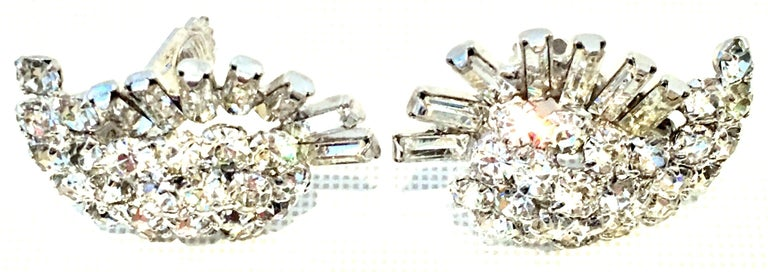 60's Weiss Style Silver & Austrian Crystal