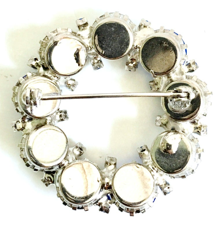 60'S Weiss Style Silver & Swarovski Crystal Brooch & Earrings Set/3 For Sale 8