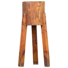 1960s Wooden Chopping Block Tripod
