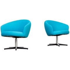 1960s Yngve Ekstrom 'Rondino' Swivel Chair for Swedese Set of 2