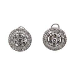 6.12 Carat Diamond Earring in 18 Karat Gold