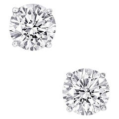 6.12 Carat Diamond Stud Earrings