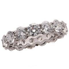 Vivid Diamonds 6.12 Carat Round Brilliant Cut Diamond Eternity Band Ring