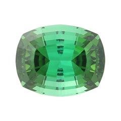 6.14 Carat Tourmaline Gemstone, Cushion Cut Blue Green Loose Solitaire