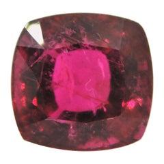 6.18 Carat Cushion Cut Rubellite Loose Gemstone