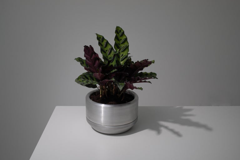 Contemporary 618 Planter in CNC Milled, Spun and Anodized Aluminum For Sale