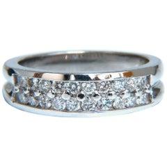 .61 Carat Natural Diamonds Flay Band Round Cuts 14 Karat