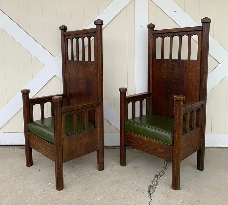 Arts and Crafts Arts & Crafts Arm Chairs, Early 1900s For Sale