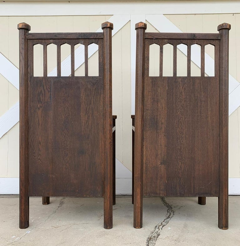 American Arts & Crafts Arm Chairs, Early 1900s For Sale