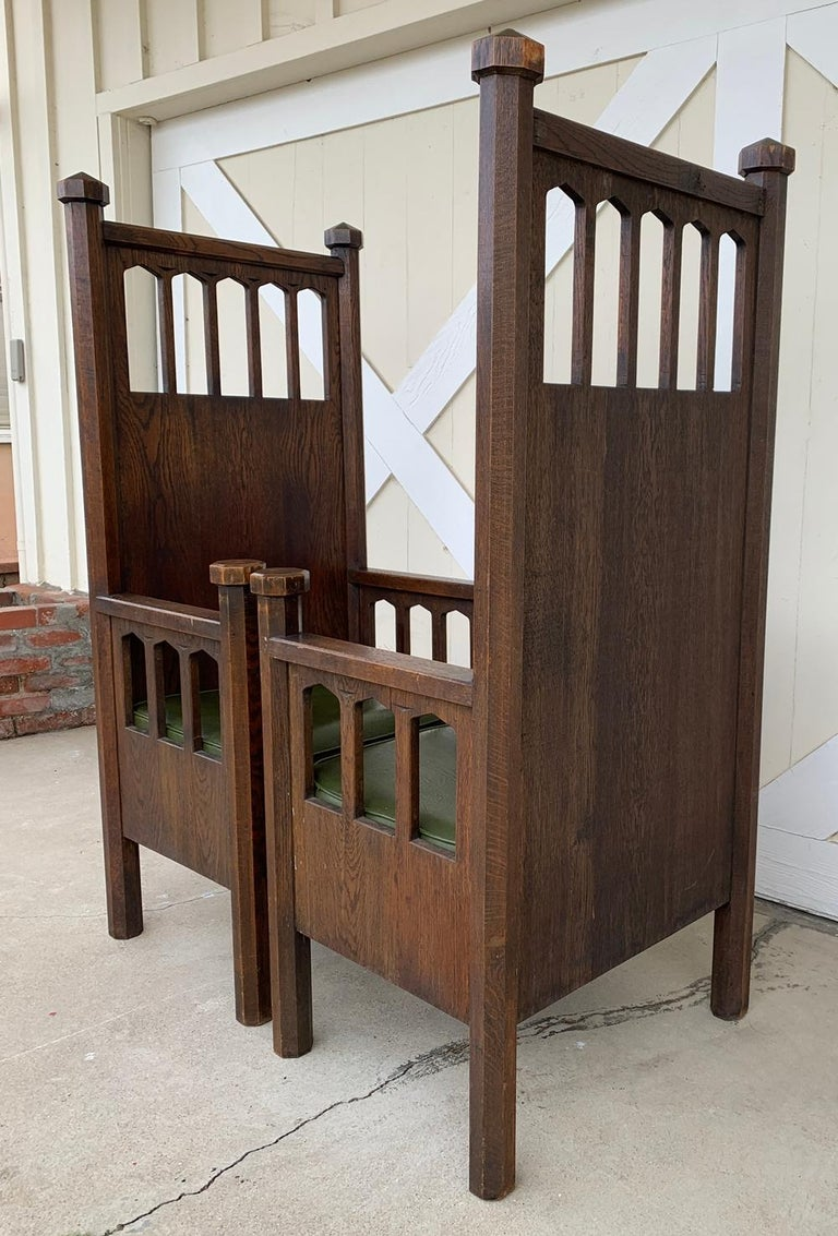 Early 20th Century Arts & Crafts Arm Chairs, Early 1900s For Sale