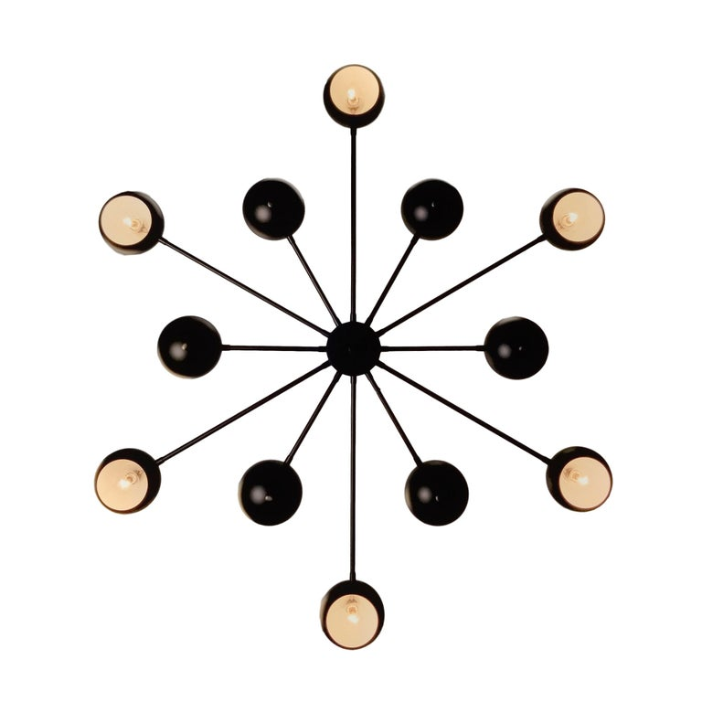 North American Modern Supernova Chandelier in Oil-Rubbed Bronze by Blueprint Lighting For Sale