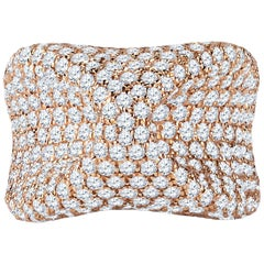 6.21 Carat Total Weight Diamond Fashion Ring in 18 Karat Rose Gold