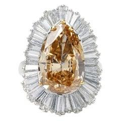6.28 Carat Ballerina Ring Convertible to Pendant Platinum