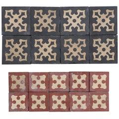 63 Antique Encaustic Floor Tiles