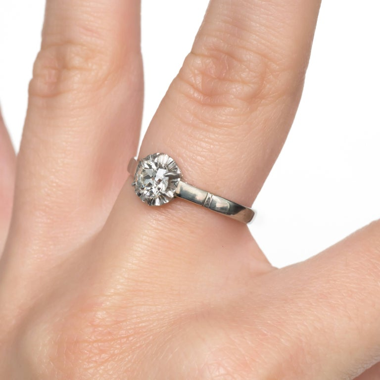 .63 Carat Platinum Diamond Engagement Ring For Sale At 1stdibs