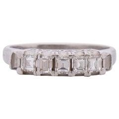 .63 Carat Total Weight Art Deco Diamond Platinum Engagement Ring