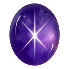 63,19 Carat Natural Sri Lankan Purple Sapphire Cabochon with GRS Certificate