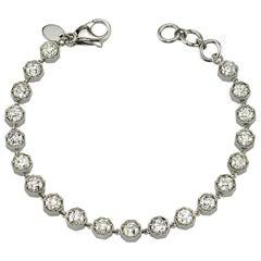 6.32 Carat Old European Cut Diamond Platinum Bracelet