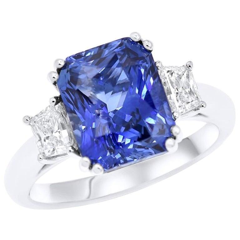 6.36 Carat Royal Blue Sapphire For Sale