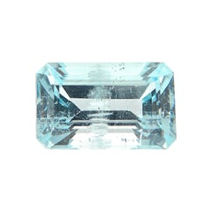 6.37 Carat Natural Unheated Emerald-Cut Burmese Aquamarine