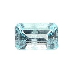 6.37 Carat Natural Unheated Emerald-Cut Burmese Aquamarine