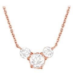 64 Facets Ethereal 0.50 Carat Triple Rose Cut Diamond in 18 Karat Rose Gold