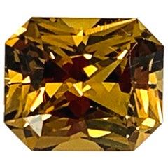 6.40 Carat Golden Zircon, Unset Engagement Ring or Necklace Enhancer Gemstone