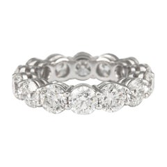 6.43 Carat Round Cut Diamond Eternity Band 'Avg 0.45ct each' 18 Karat White Gold