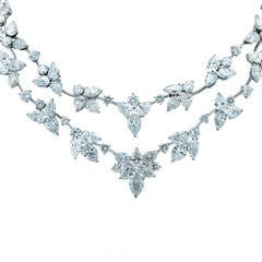 64.45 Carat Diamond Flower Necklace