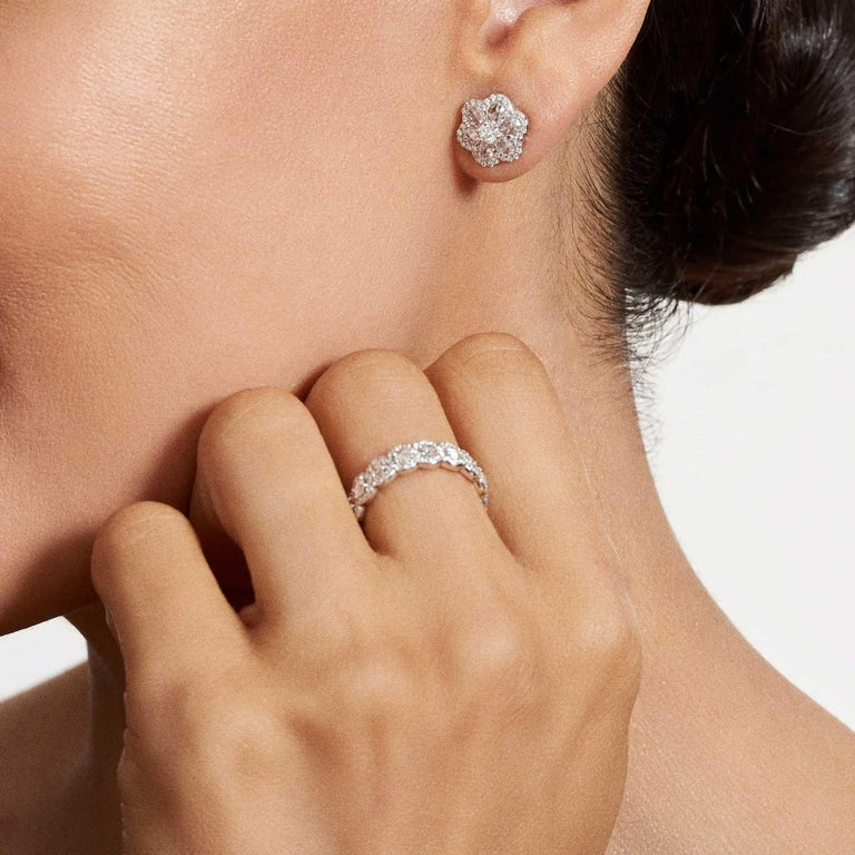 c3bd6bc681562 64Facets 1 Carat Rose Cut Diamond Flower Stud Earrings in 18 Karat Gold