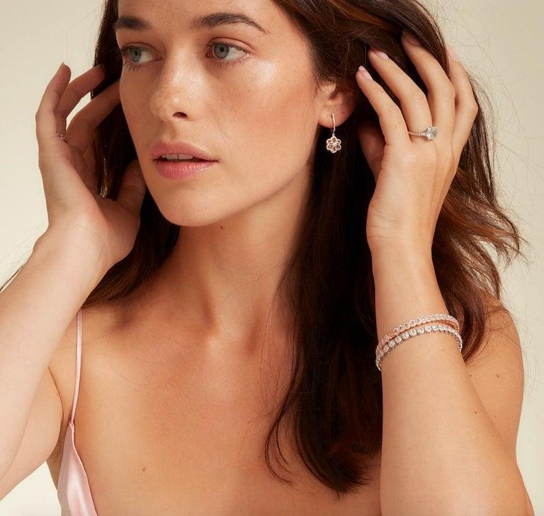 64Facets 2.90 Carat Tennis Bracelet Rose Cut Diamonds in 18 Karat White Gold For Sale 9