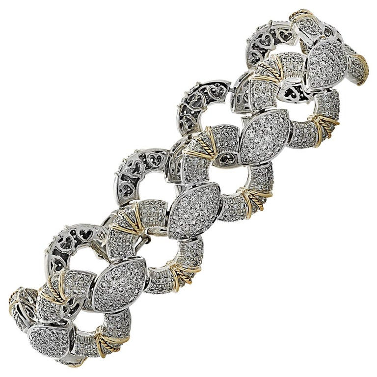 6.5 Carat Diamond Pave' Bracelet For Sale