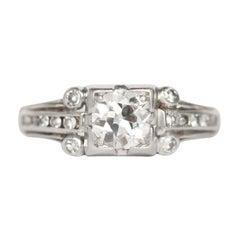 .65 Carat Diamond Platinum Engagement Ring