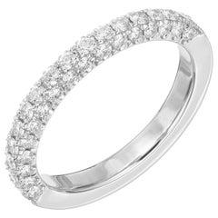 .65 Carat Diamond Platinum Wedding Band Ring