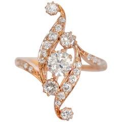 .65 Carat Diamond Rose Gold Ring