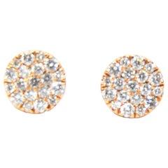 .65 Carat Diamond Stud Earrings in 18 Karat Yellow Gold or Rose or White Gold