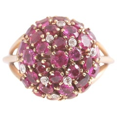 6.5 Carat Ruby and Diamond Ring