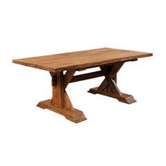 Hardwood X-Framed Trestle Table