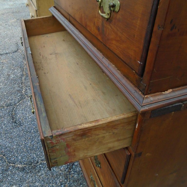 6.5 Late 19th Century English George III Graduated Chest of Drawers For Sale 3