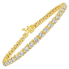6.50 Carat Round Diamond Three-Prong Tennis Bracelet