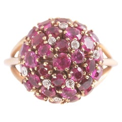 6.50 Carat Ruby and Diamond Ring