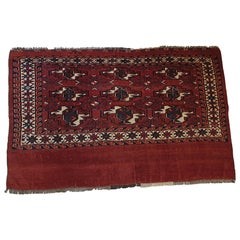 "652 - Antique Turkmen Bukhara Horse Blanket ""Chuval"""