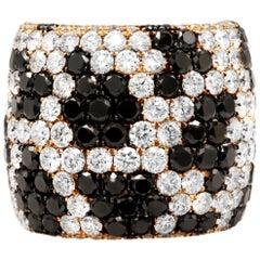 6.52 Carat Diamond Cigar Band Ring in Rose Gold