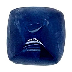 6.57 Carat GRS Certified Unheated Burmese Blue Sapphire Sugarloaf