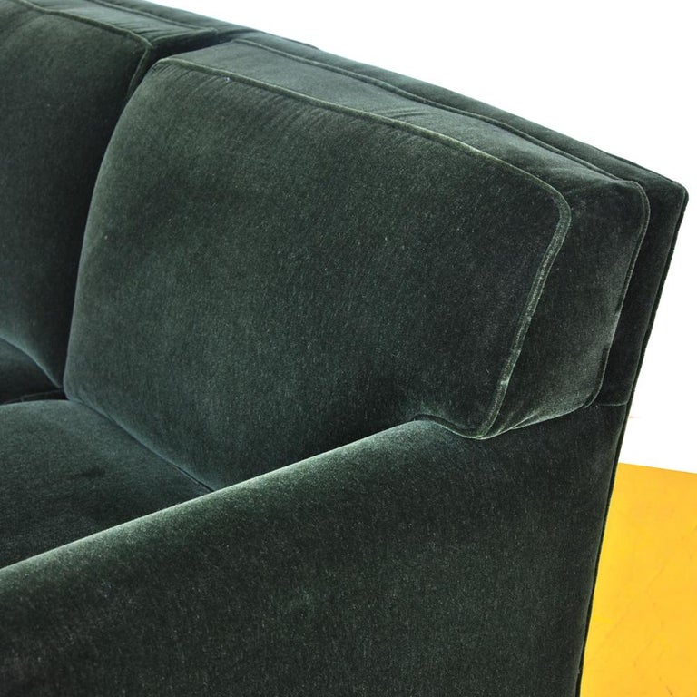 Mohair Modern Art Deco Style Bernhardt Sofa For Sale