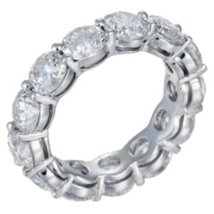 6.60 Carat Diamond Eternity Band in White Gold