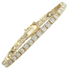 6.60 Carat Diamond 18 Karat Yellow Gold Bracelet