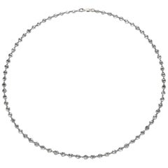 PANIM Rose Cut Diamond and 18K Gold Chain Link Necklace, 7 Carats