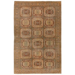 Vintage Turkish Rug, Muted Colors, Geometric Design and Tribal Patterns